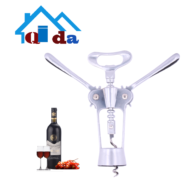 2018 kitchen accessories high quality custom zinc alloy  Red  wine bottle opener