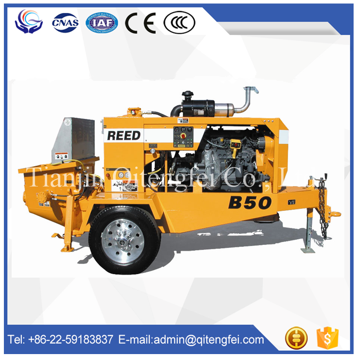 Good price Mine / small Trailer mounted Concrete Pump for sale
