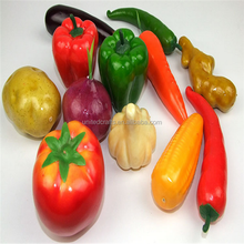Eco friendly high simulate lifelike fake fruit and vegetables for home decoration