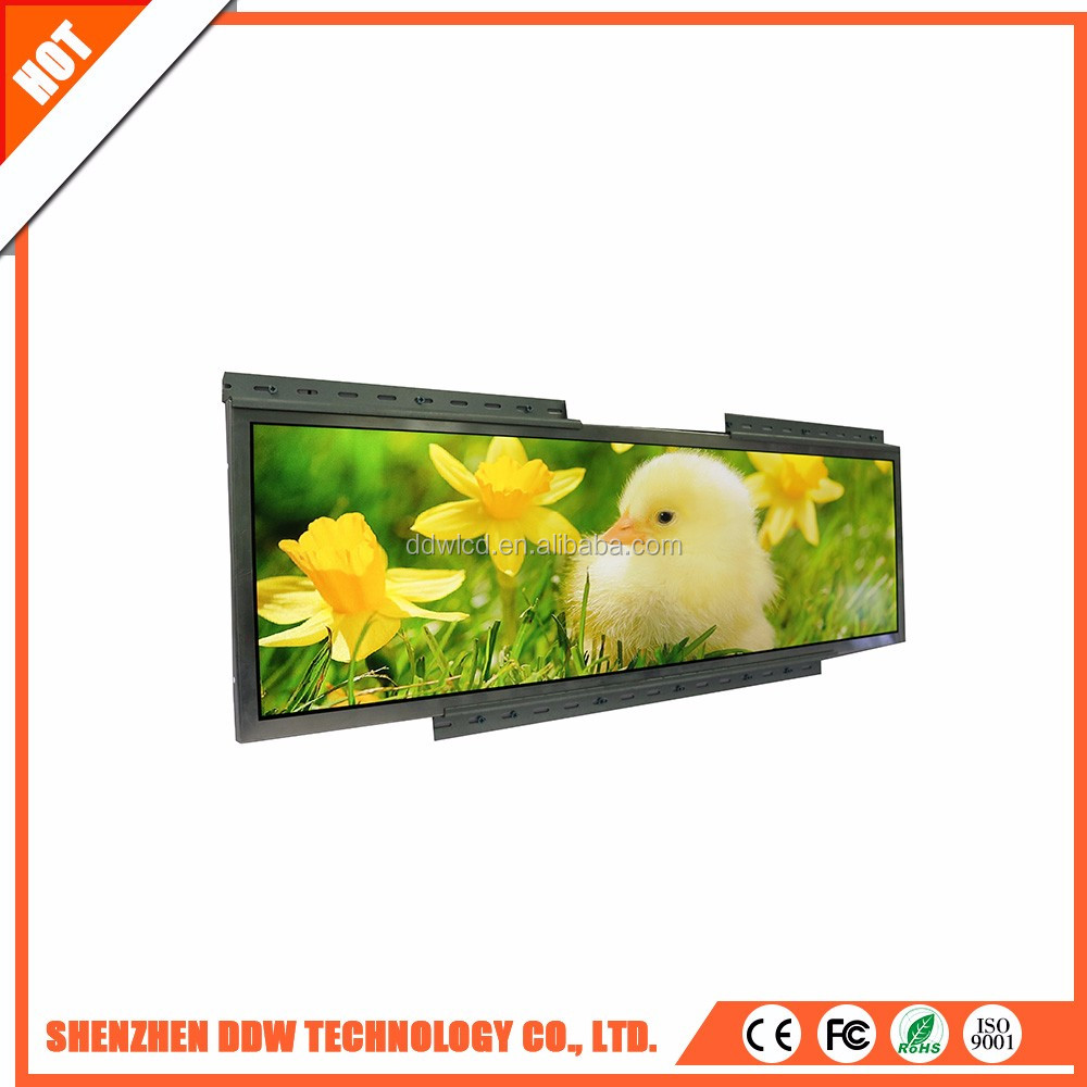 new Popular high quality Stretched bar LCD strip narrow frame lcd digital display