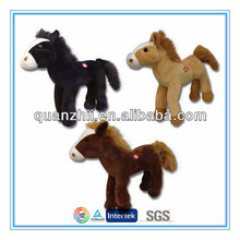 Custom sound plush toy horse stuffed animal toy with music IC