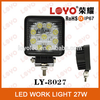 Super Bright 1755lum12V 27W Led Work Light in Auto Lighting System for 4X4 Truck Jeep Offroad Vehicles