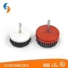 Silicon carbide wire drill rotating clean disc brush for cleaning