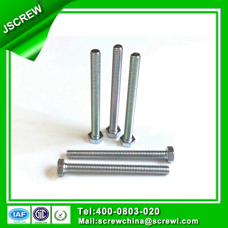 M6 hot dip galvanized zinc plated hex head machine bolts and nuts