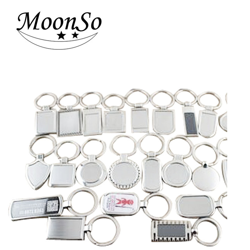 Creative blank Metal Keychain men's customization design kaychain Moonso AK5054