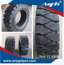 ANYGO brand 28x9-15 XZ01 Forklift solid tyres, Pneumatic solid tyre, solid resilient tyres