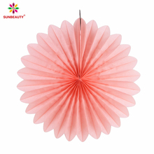 Sunbeauty High Quality Tissue Paper Pom Poms Hanging Fans