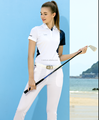 ladies' with contast panel golf shirt
