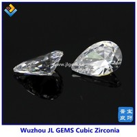 (200pcs) Free Shipping 5*7mm Synthetic White Pear Cubic Zirconia Stone For Fashion Jewelry