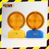 super bright led solar caution lamp road safety traffic warning light