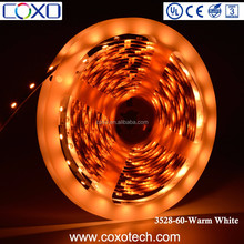 SMD 3528 60 LEDs Strip Tape Warm White IP20/IP65 IP67 IP68 Silicon Waterproof LED Strip