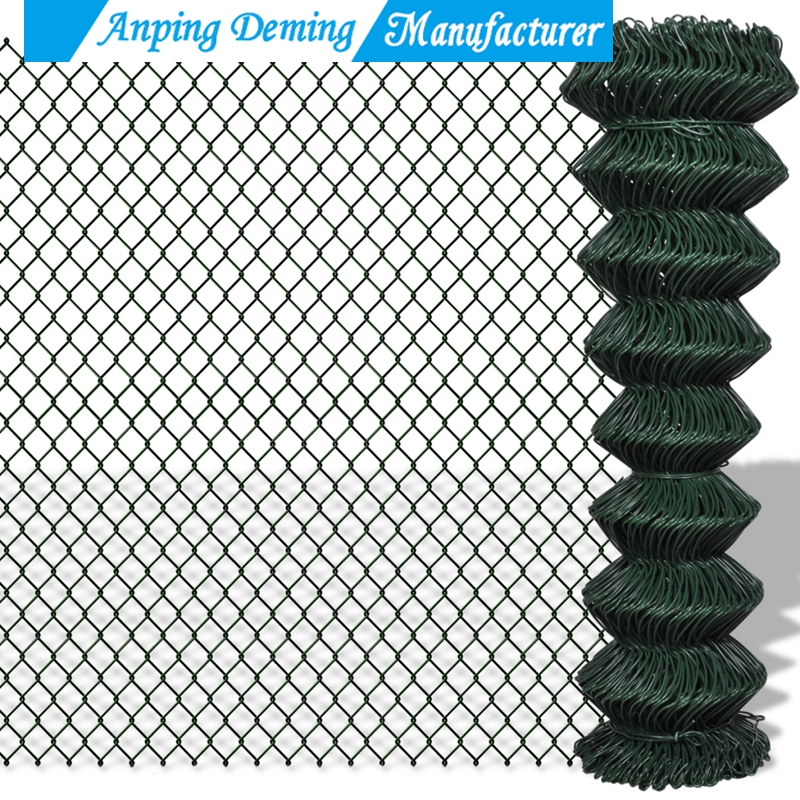 China Supplier Anping Deming uesd chain link fence per sqm weight