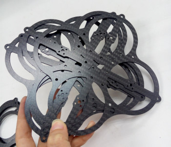 1mm 1.5mm 2mm 3mm 4mm 5mm 6mm RC Hobby Parts, quadcopter carbon frame application cnc carbon fiber sheet / plates cutting
