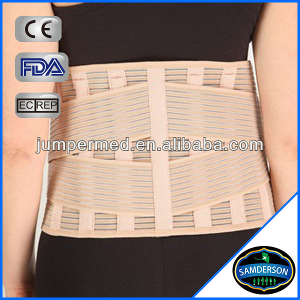 Orthopedic high quality beige adjustable enhanced waist support