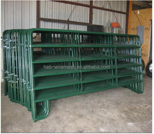 Galvanized welded pipe livestock cattle used corral fence panels for horse,durable 6 or 5 bar steel