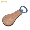 Factory outlet wholesale rubber wood handle beer bottle opener