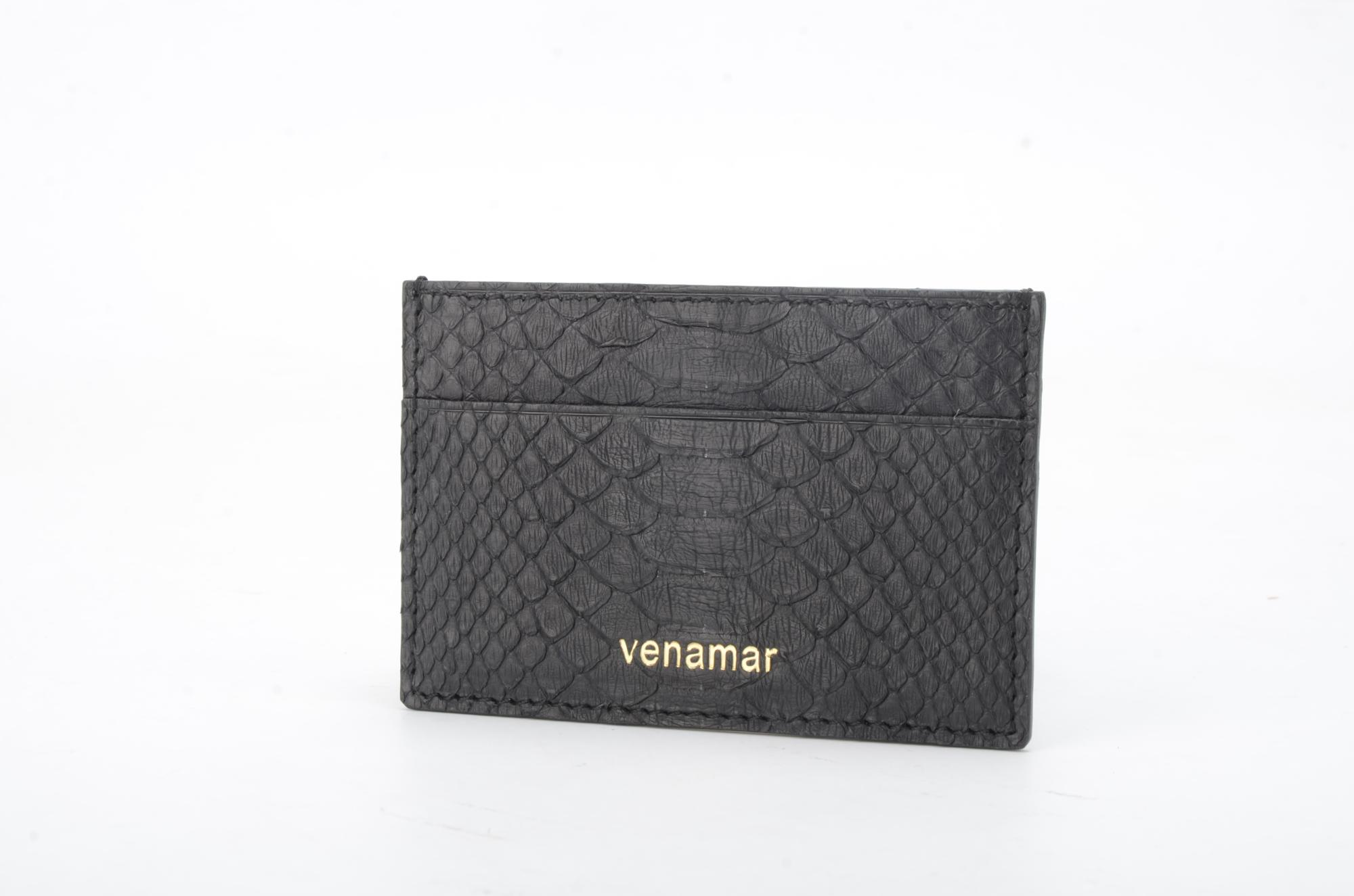 Python Leather Card Wallets With Hot Stamping Logo