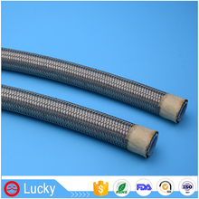 AN Size High Pressure and Temperature Resistant SAE R14 S.S Wire Braided Teflon PTFE Tube for Brake Oil Hose