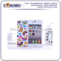 High Quality flower hard Case For iPhone 4G 4S Accept Paypal