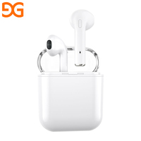 High sound quality strong power sports stereo super mini bluetooth headset wireless with Charging Case for iPhone for Samsung