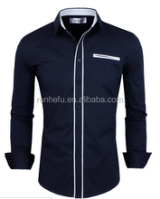 Men's Slim Fit Long Sleeve with Checkered Buttons Shirts