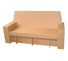 Double cardboard sofa <strong>furniture</strong> Three people sofa three seats paper sofa cardboard <strong>furniture</strong>