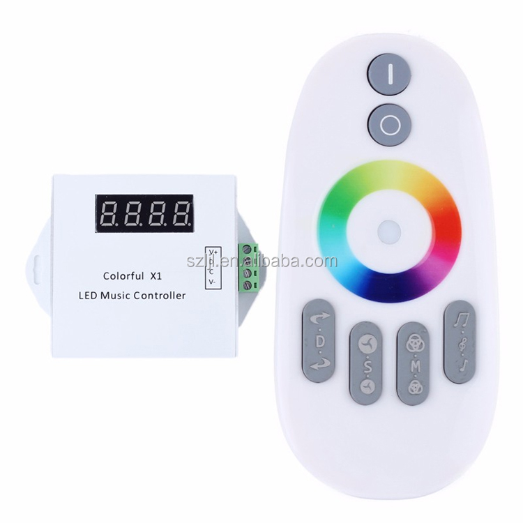 RF 12-24V 18A 2CH DMX RGB Music <strong>LED</strong> Remote Controller for WS2812 <strong>LED</strong> Strip