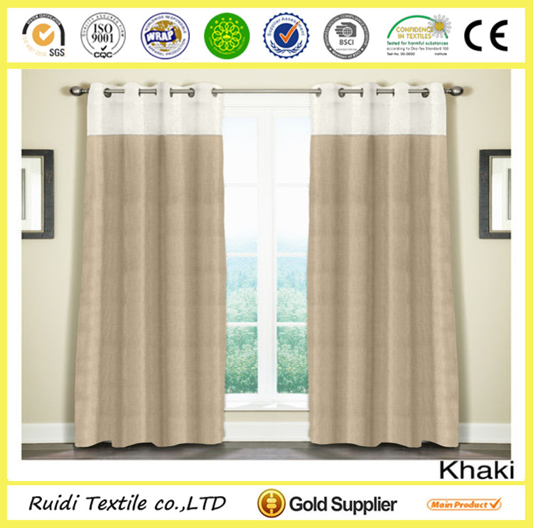 Luxury Natural Hotel Curtain Ready Made Hotel Window Curtain