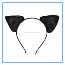 Cosplay Party Sexy Black Lace Cat Ears Hair Band Rabbit Ears Hair Bands