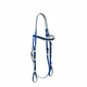Hot design durable pvc Horse racing bridle set with metal plates