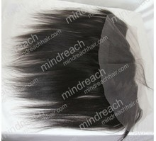 Hot selling 12'' 1b# Yaki 100% Indian remy hair lace frontal,accept Paypal