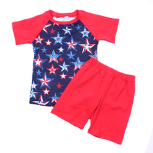 Popular star design boys T-shir <strong>sets</strong> Patriots' Day suitable <strong>children</strong> clothes <strong>set</strong>