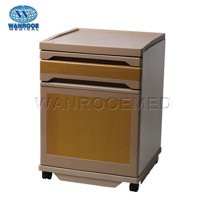 BC009 Hospital Clinic Portable Mobile Medical Bedside Cabinet