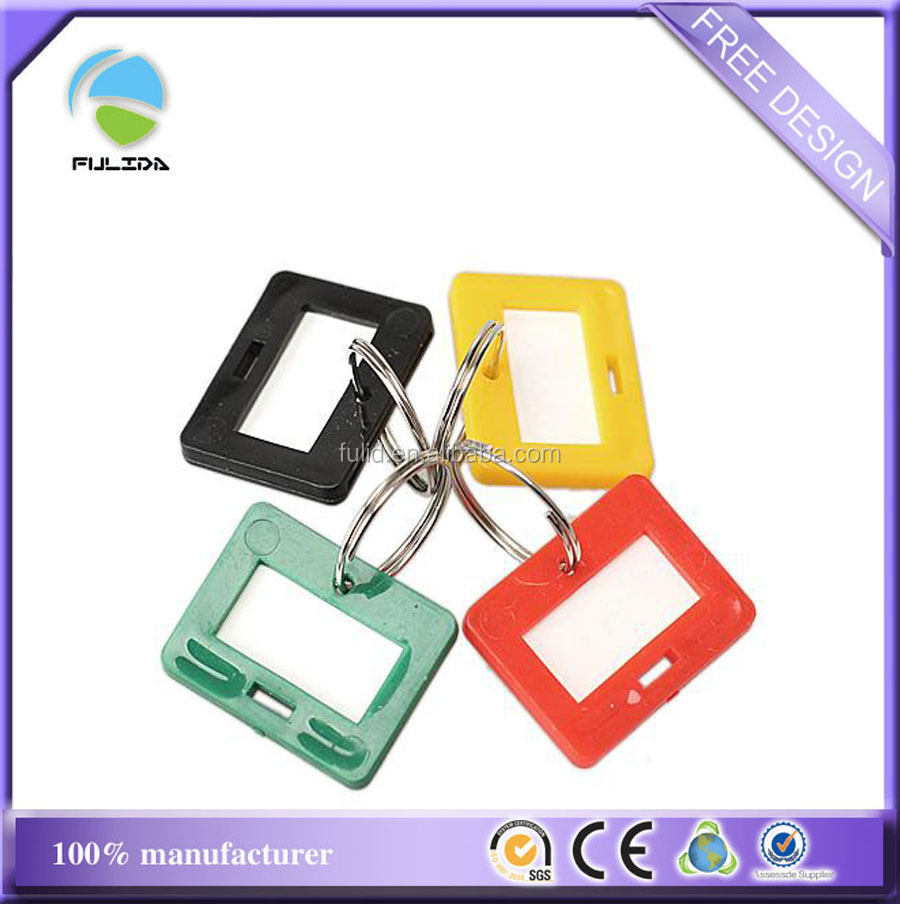 rectangle ABS hard Plastic name tag Keyring