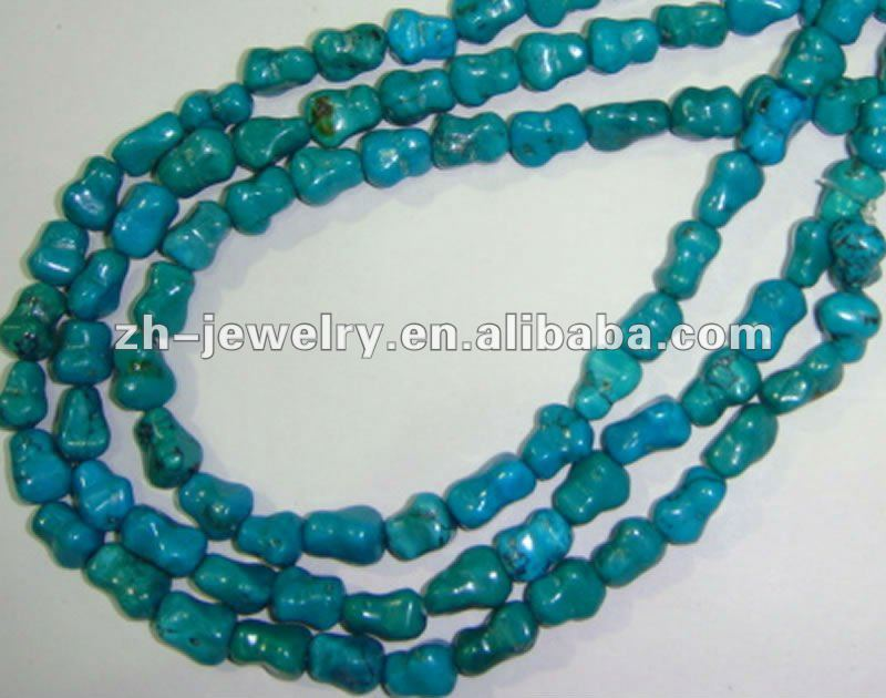 Turquoise Dog Bone Beads jewellery