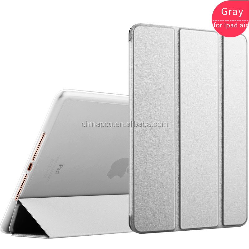 magnetic close ultrathin three fold pu leather case for ipad air cover for ipad 5 case with softedge