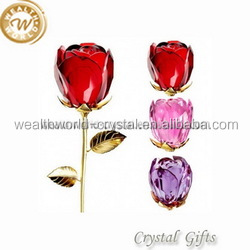 valentines gift crystal glass rose for the beloved