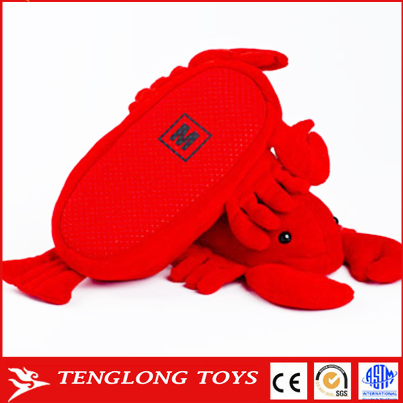 New design fashion plush stuffed toy slipper lobster