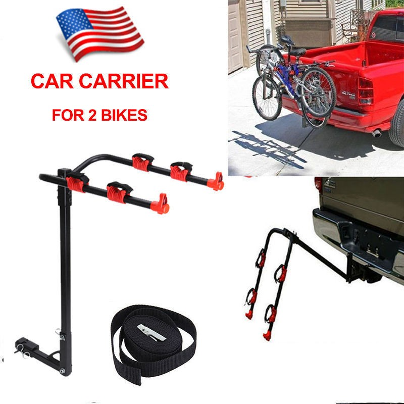 New 2 Bicycle Bike Rack ,new design hitch bike carrier 2 bike trunk rack