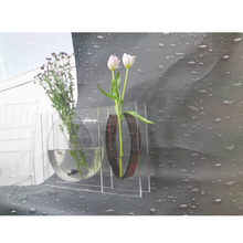 Wholesale simple design home deco clear acrylic flower vases glass vase