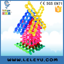 Colourful Learning Plastic Snow Flakes Connection bricks toy