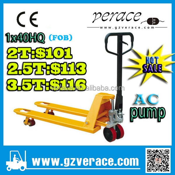 VR-AC after service provide 3.5ton hand Pallet Truck with CE certificate