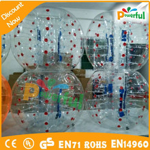 Popular sale soccer bubble ball/body bubble bumper ball/inflatable balls for people