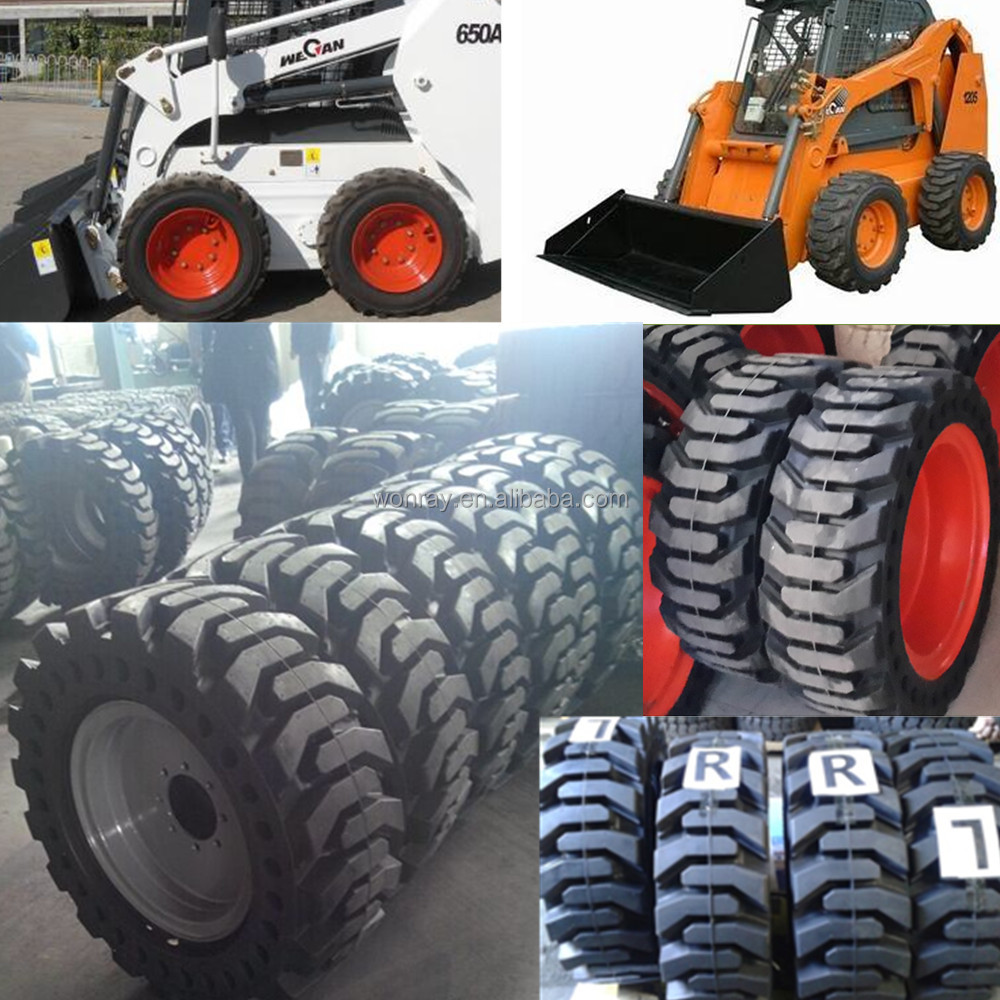 top sales case 1845c skid steer wheel bearing, 12x16.5 10x16.5 skid steer solid tires and rims with good price