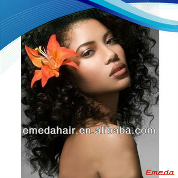 fashion new design short Indian remy human hair afro glueless wig cap