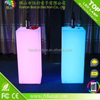 Remote control battery Colorful LED Magic cube/LED ice cube for the nightclub