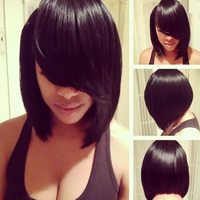 Tangle Free Shedding Free yaki bob human hair wig