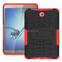 Tough grade stand armor case for Samsung Galaxy Tab S2 8.0inch T710 cover