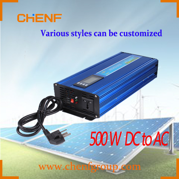 CHENF 2016 HOT SALE 500W 12v/24v/48v output power inverter with battery charger made in China