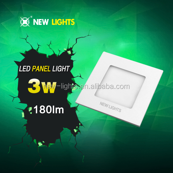 hot sale square slim led panel light recessed panel lamp 3w